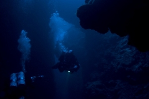 Technical deep decompression dive Mexico