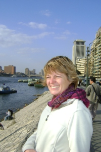 Marielle at the Nile in Cairo