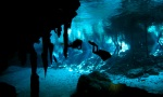 Cave diving in Mexican cenotes